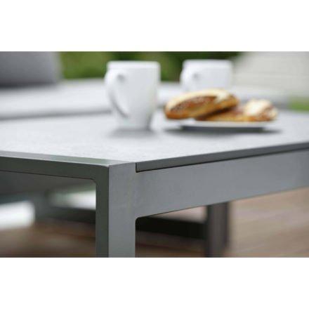 """Beistelltisch """"Allround"""" von Stern, Gestell Aluminium graphit, Tischplatte Vintage grau"""
