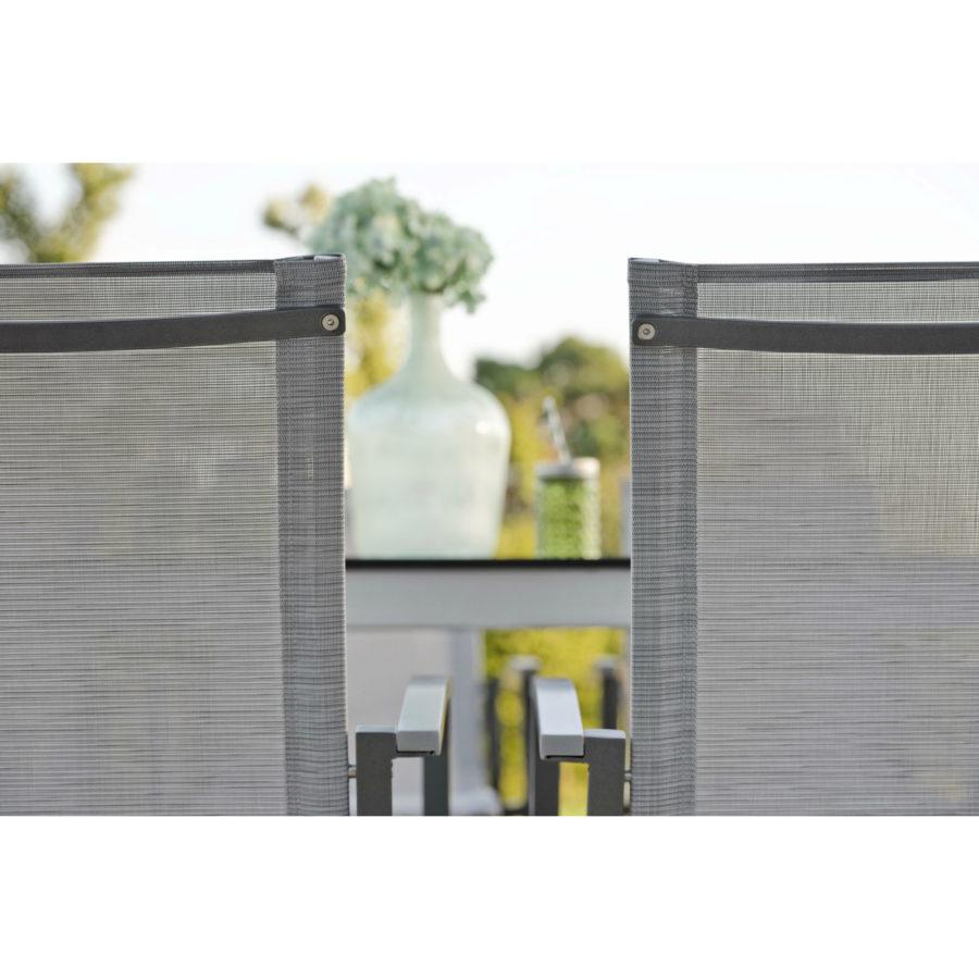 stern gartenm bel set mit stuhl evoee und ausziehtisch aluminium hpl. Black Bedroom Furniture Sets. Home Design Ideas