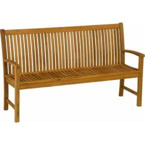 Stern 3-Sitzer Gartenbank Teakholz, Banklänge: 159 cm
