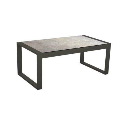 """Stern Beistelltisch """"Allround"""", Gestell Aluminium anthrazit, Tischplatte HPL Metallic grau"""