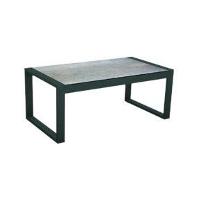 """Stern Beistelltisch """"Allround"""", Gestell Aluminium anthrazit, Tischplatte HPL Smoky"""