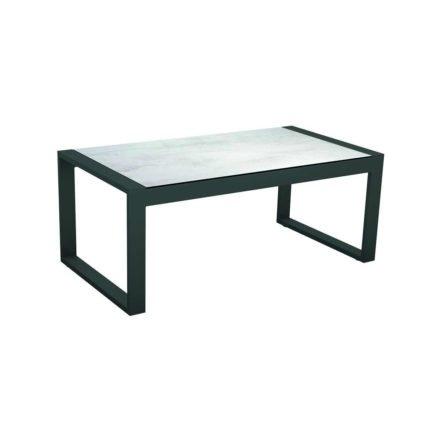 "Stern Beistelltisch ""Allround"", Gestell Aluminium anthrazit, Tischplatte HPL Zement hell"