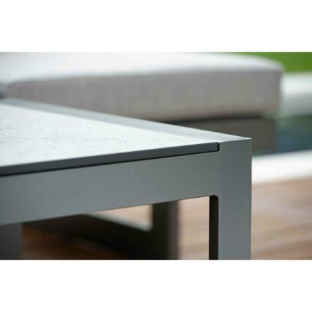 """Stern Beistelltisch """"Allround"""", Gestell Aluminium anthrazit, Tischplatte HPL Vintage grau"""