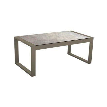 "Stern Beistelltisch ""Allround"", Gestell Aluminium taupe, Tischplatte HPL Metallic grau"