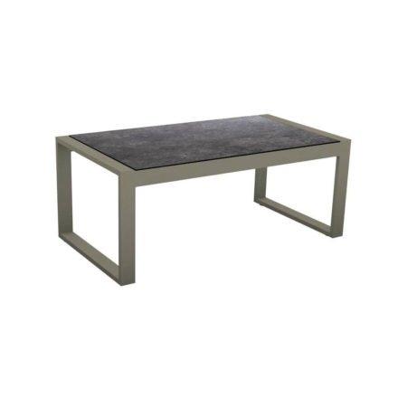 """Stern Beistelltisch """"Allround"""", Gestell Aluminium taupe, Tischplatte HPL Vintage grau"""
