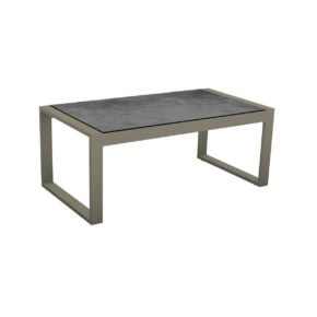 "Stern Beistelltisch ""Allround"", Gestell Aluminium taupe, Tischplatte HPL Zement"
