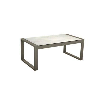"""Stern Beistelltisch """"Allround"""", Gestell Aluminium taupe, Tischplatte HPL Zement hell"""