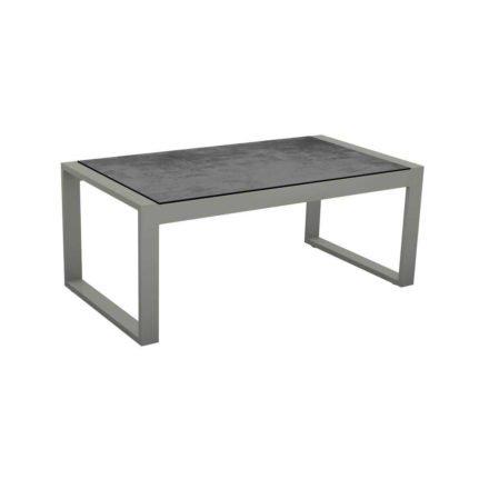 """Stern Beistelltisch """"Allround"""", Gestell Aluminium graphit, Tischplatte HPL Zement"""