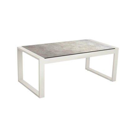 """Stern Beistelltisch """"Allround"""", Gestell Aluminium weiß, Tischplatte HPL Metallic grau"""