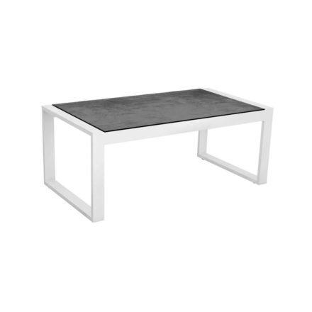 """Stern Beistelltisch """"Allround"""", Gestell Aluminium weiß, Tischplatte HPL Zement"""
