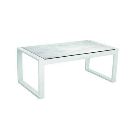 "Stern Beistelltisch ""Allround"", Gestell Aluminium weiß, Tischplatte HPL Zement hell"