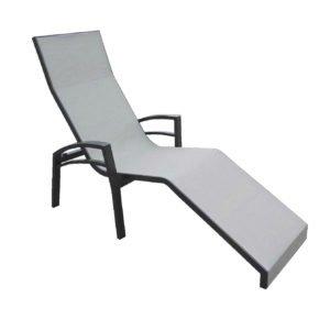 """Relaxliege """"Balance"""" von Stern, Gestell Aluminium anthrazit, Textilgewebe silber"""