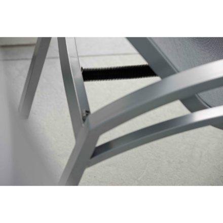 """Relaxliege """"Balance"""" von Stern, Gestell Aluminium graphit, Textilgewebe silbergrau"""