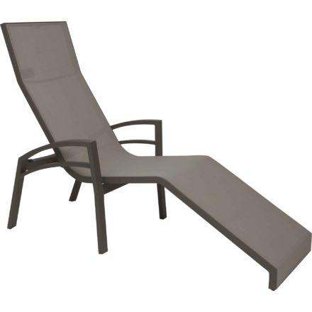"""Relaxliege """"Balance"""" von Stern, Gestell Aluminium taupe, Textilgewebe kieselgrau"""