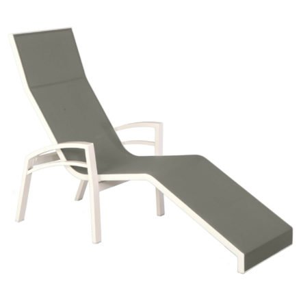 """Relaxliege """"Balance"""" von Stern, Gestell Aluminium weiß, Textilgewebe silber"""