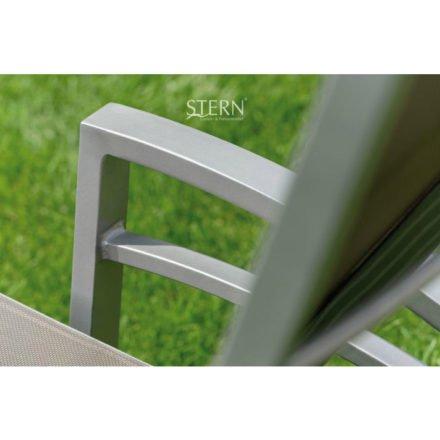 Sonnenliege Balance von Stern, Gestell Aluminium graphit, Textilgewebe silbergrau