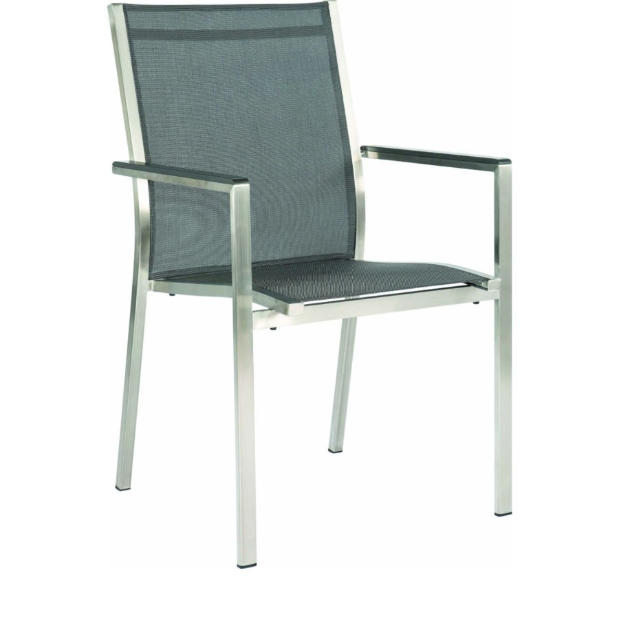 stern gartenm bel set mit stuhl cardiff und ausziehtisch edelstahl hpl vintage grau. Black Bedroom Furniture Sets. Home Design Ideas