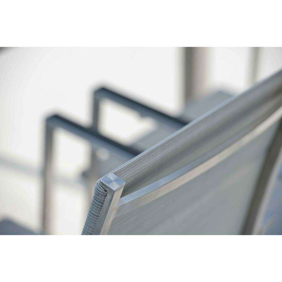 """Stern Gartenmöbel-Set mit Stuhl """"Lavagna"""" und Tisch Edelstahl/Granit"""