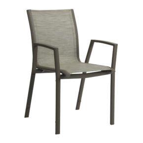 """Stern Stapelsessel """"Ron"""", Gestell Aluminium taupe, Sitz & Rücken aus Textilgewebe kaschmirfarben"""