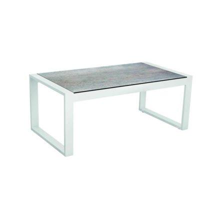 """Stern Beistelltisch """"Allround"""", Gestell Aluminium weiß, Tischplatte HPL Smoky"""