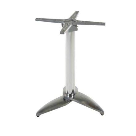 """Diamond Garden Tischgestell """"Leon"""", Aluminium poliert mit 3 Füßen"""