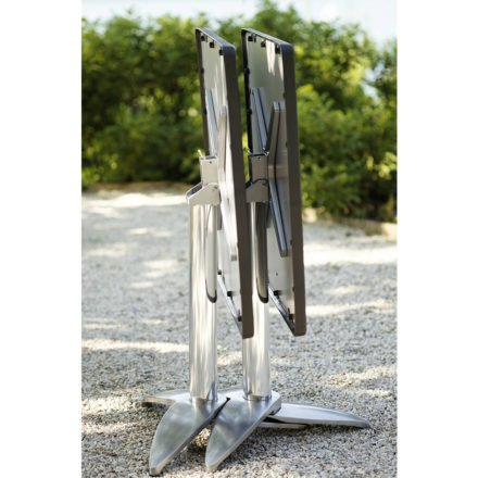 """Diamond Garden Gartentisch """"Leon"""", Aluminium poliert mit 3 Füßen, ineinander verstaut"""