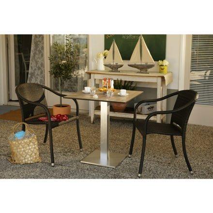 Tischgestell Viana mit Gartenstuhl Barbados von Diamond Garden