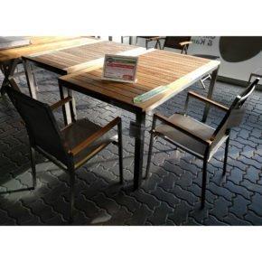 "Gartenmöbel-Set ""Mallorca/Rotterdam"", Gestell Edelstahl, Tischplatte Teakholz, Größe: 150/207x90 cm"