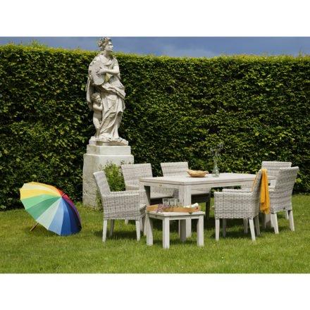 Gartentisch Chateau 240 cm seawashed, Beistelltisch Belmont, von Diamond Garden