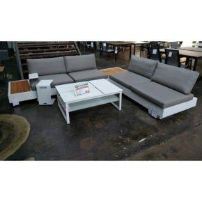 "Loungeset ""Bari/Miami"" von Jati&Kebon, Gestell: Aluminium weiß"