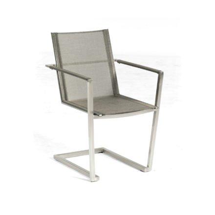 "SonnenPartner Freischwinger ""Platinum"", Gestell Edelstahl, Textilgewebe metallic-grau"
