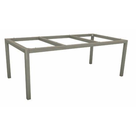 Stern Tischgestell Aluminium graphit, 200x100 cm