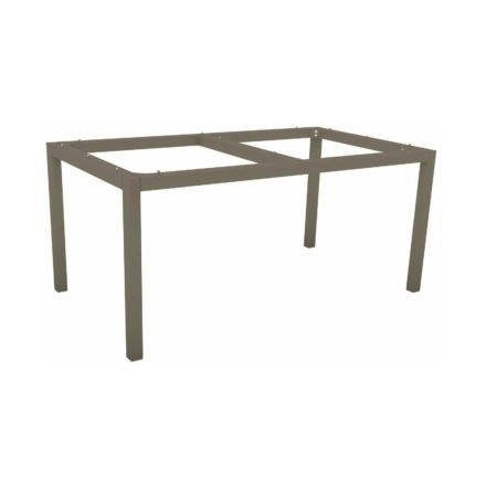 Stern Tischgestell Aluminium taupe, 160x90 cm