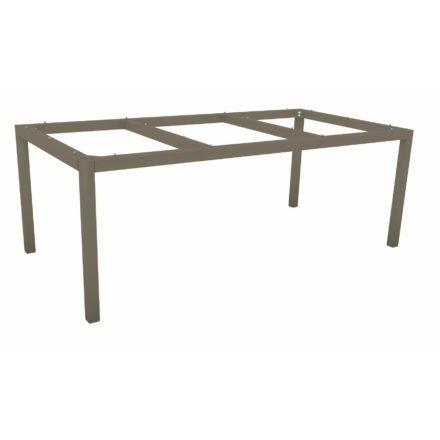 Stern Tischgestell Aluminium taupe, 200x100 cm