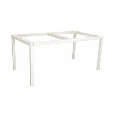 Stern Tischgestell Aluminium weiß, 160x90 cm