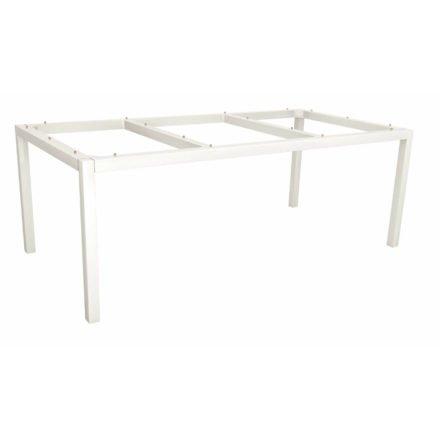 Stern Tischgestell Aluminium weiß, 200x100 cm