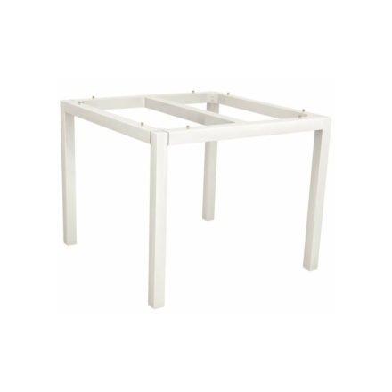 Stern Tischgestell Aluminium weiß, 90x90 cm