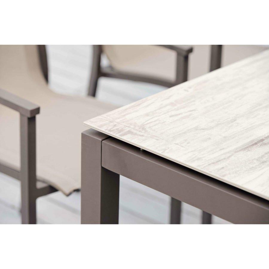 Stern Tischsystem Gartentisch Aluminium Keramik