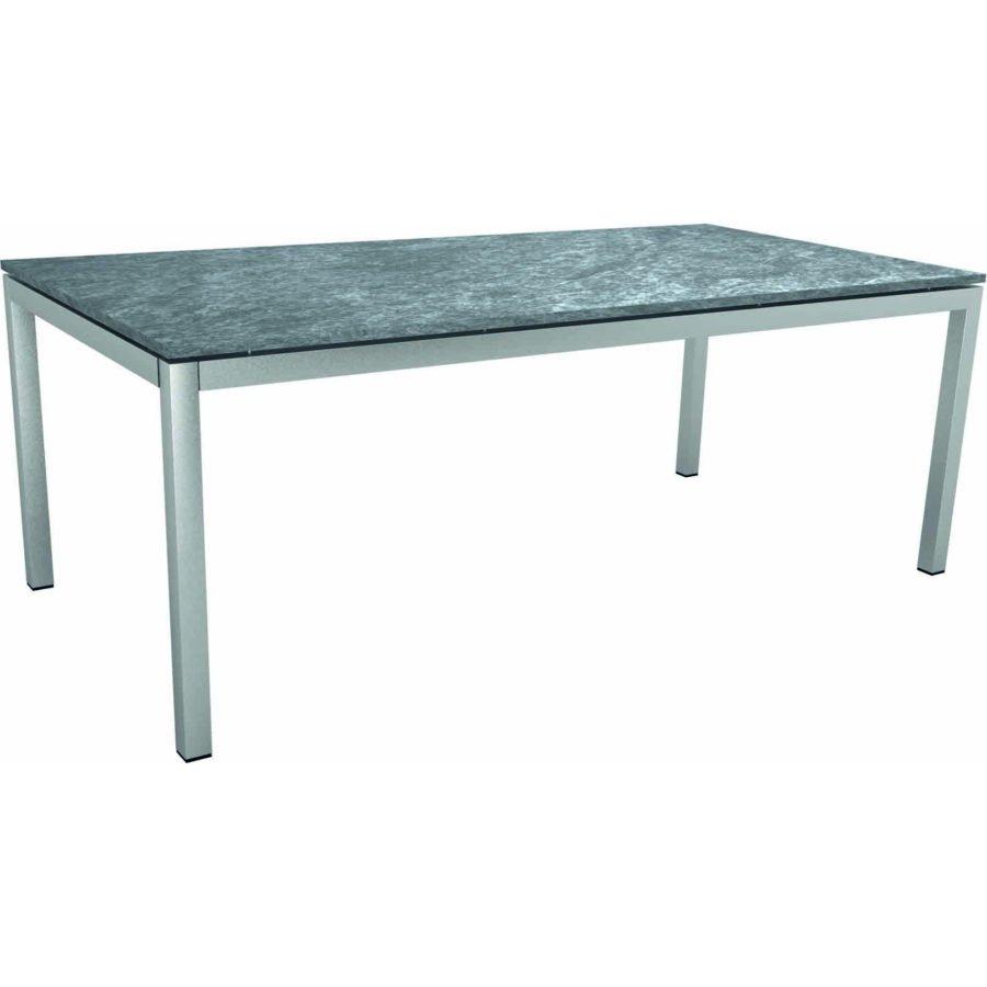 Stern Tischsystem Gartentisch Edelstahlgranit