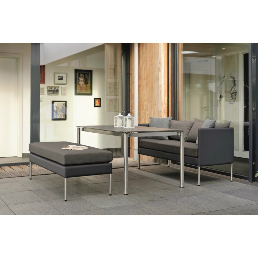 stern gartenm bel set mit 2 sitzer sofa miguel fu bank miguel und tisch edelstahl keramik. Black Bedroom Furniture Sets. Home Design Ideas