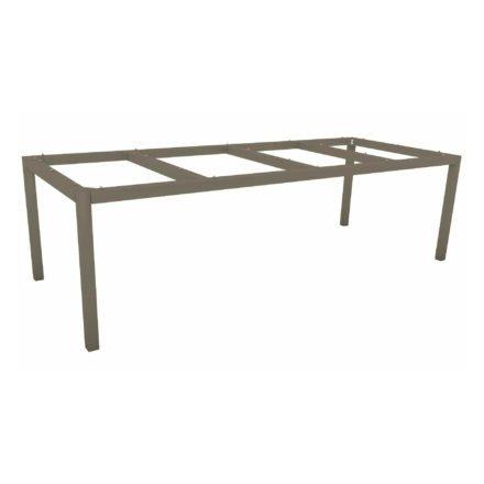 Stern Tischgestell Aluminium taupe, 250x100 cm
