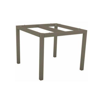 Stern Tischgestell Aluminium taupe, 80x80 cm
