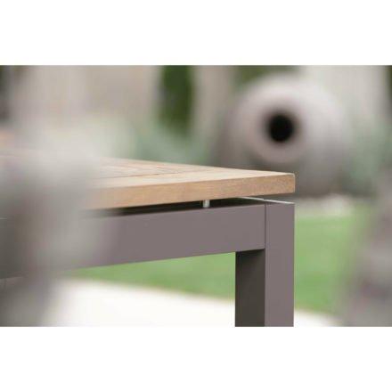 Stern Tischplatte Old Teak, Tischgestell Aluminium