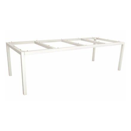 Stern Tischgestell Aluminium weiß, 250x100 cm
