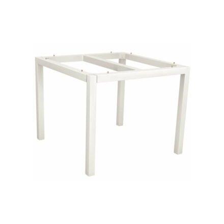 Stern Tischgestell Aluminium weiß, 80x80 cm