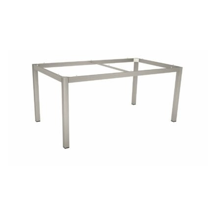 Stern Tischgestell Edelstahl Vierkantrohr, 130x80 cm