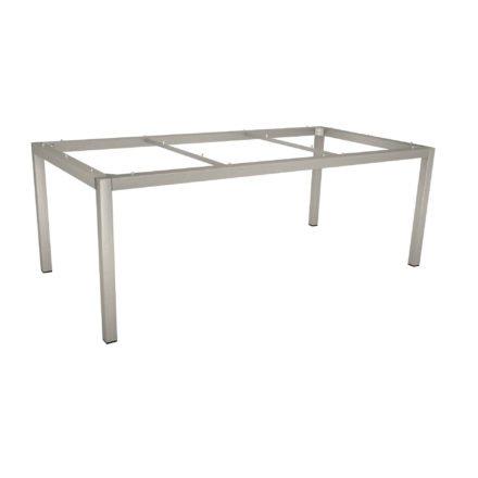 Stern Tischgestell Edelstahl Vierkantrohr, 200x100 cm