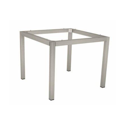 Stern Tischgestell Edelstahl Vierkantrohr, 80x80 cm