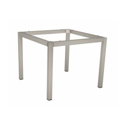 Stern Tischgestell Edelstahl Vierkantrohr, 90x90 cm