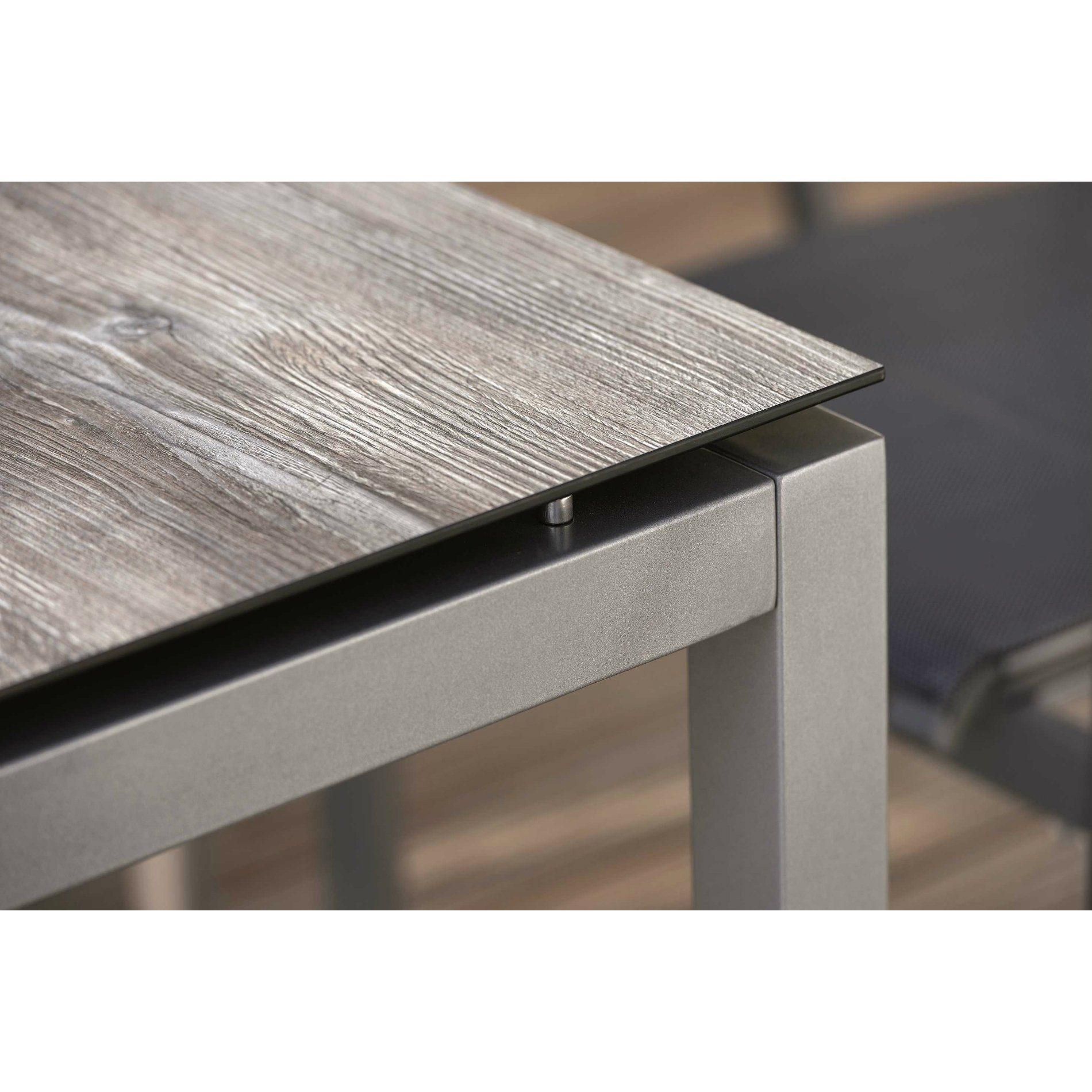 Gartentisch alu 200  Stern Tischsystem Gartentisch Aluminium/HPL